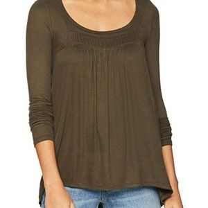 Free People Love Valley Top Sz L Olive
